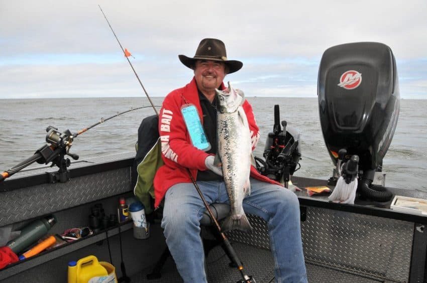 Buoy 10 coho fishing with Buzz Ramsey